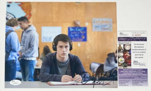 DYLAN  MINNETTE SIGNED 8X10 PHOTO 13 REASONS WHY NETFLIX CLAY JENSEN