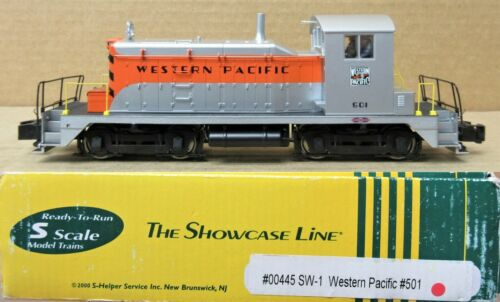 The Showcase Line 00445 WP/Western #501 Pacific SW-1 Diesel Engine S-Scale AC/DC