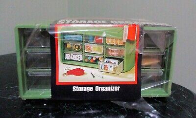 NOS AKRO-MILLS Avocado Green MCM 9 Drawer Storage Organizer
