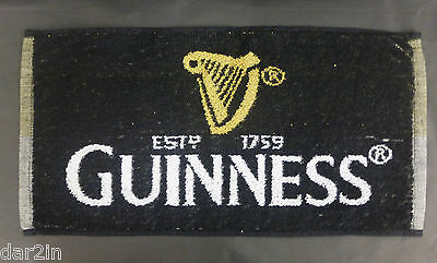 USED GUINNESS IRISH STOUT PUB HOME BAR BEER DRINK DRIP TOWEL 100% COTTON MARKS