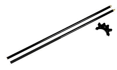 "57"" 2 Piece Fiberglass Pool Table - Billiard Bridge Stick Black"