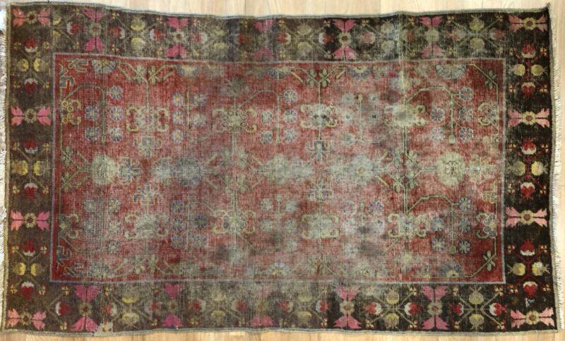 Special Samarkand - 1890s Antique Khotan Rug - East Turkestan Carpet 3.8 X 6 Ft.