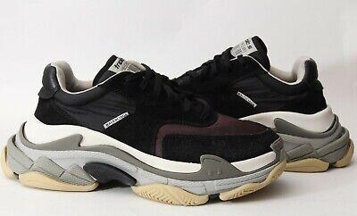 Balenciaga Triple S Men's Sneakers Trainers Runners Black/Burgundy/Grey Sz 40/ 7