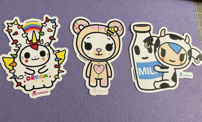 Tokidoki Stickers - Set Of Three Dream Cactus Bunny, Mozzarella, Biscottina