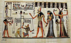 Egyptian-Hand-Painted-Papyrus-Art-Anhai-in-the-Hall-of-Maat-Book-of-the-Dead