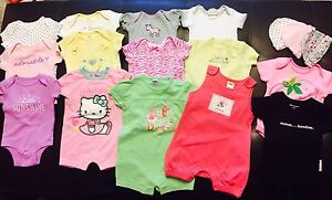 Lot of Baby Girl Clothing 0-3,  3-6 months & more