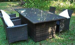 WICKER DINING SETTING Matisse 5 Piece Outdoor BBQ Rattan Myocum Byron Area Preview