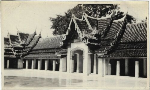 Lot 12 Vintage Photos Thailand Siam 1920s Wats Temples Monks Canal Boats Bangkok