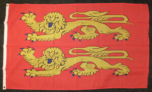 Norman-Flag-Normandy-William-the-Conqueror-1066-Saxons-Heraldic-Historical-5x3