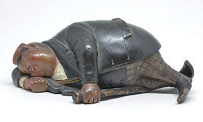 """BERNARD BLOCH Fine Austrian Art Nouveau Figurine  """"Sleeping student"""""""