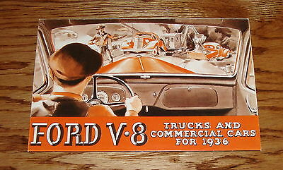 1936 Ford V-8 Truck & Commerical Car Full Line Foldout Sales Brochure 36