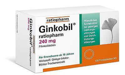 GINKOBIL RATIO 240mg 120 Filmtabletten PZN 08864415 Katharinenapotheke