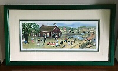 Will Moses Last Day of School Framed Signed Limited Edition Serigraph RARE