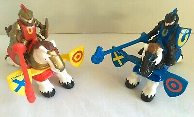 Fisher Price Great Adventures Castle Jousting Knights 7123 Spring-Loaded Saddles