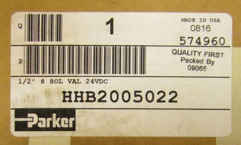 PARKER Solenoid Valve 35-150 MAX PSI 24VDC HHB2005022