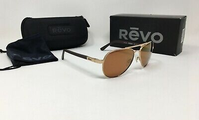 REVO® Raconteur Men's RE 1011 Aviator Sunglasses, POLARIZED Open Road Lens (Revo Aviators)