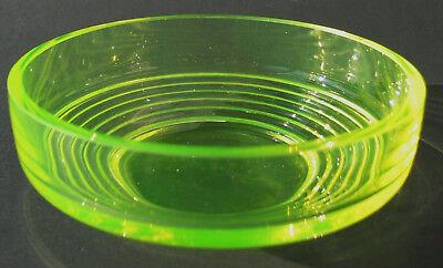 Glasschale  Uranglas / Vaseline glass