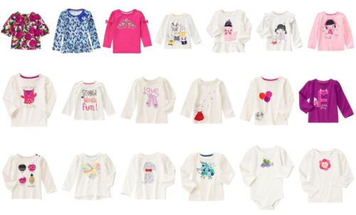 NEW Gymboree girls long sleeve tee size 3T 4T 5T NWT YOU PICK