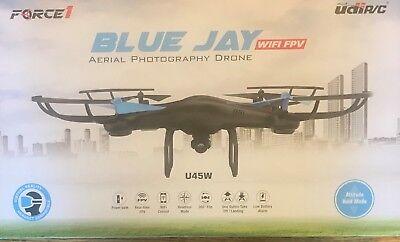 FORCE 1 BLUE JAY AERIAL PHOTOGRAPHY DRONE WIFI FPV UDIR/C U45W