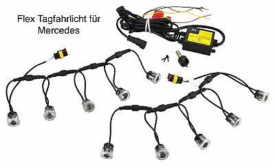 LED Tagfahrlicht Flex 10 x SMD 12V Zugelassen für Mercedes TFL8