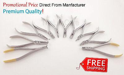 Range Of Professional Pliers Dental Orthodontic Instruments Set Of 10 Pcs
