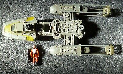 Star Wars vintage Kenner Y-Wing Fighter, used but complete + pilot Luke
