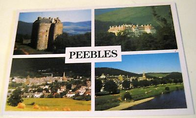 Scotland Peebles Multi-view S-160-H Exclusive Card - posted 1998