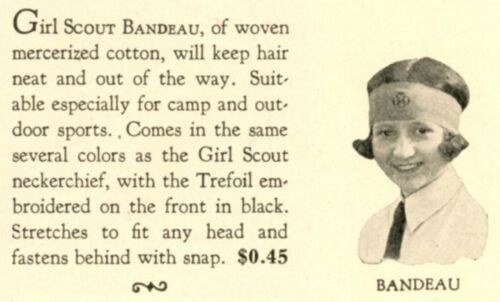Girl Scout BANDEAUX Hairband Stretches 1927 OR 1936? EXTREMELY RARE Gold Trefoil