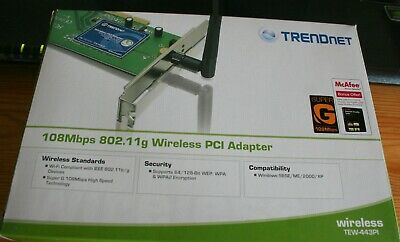 Adaptateur PCI sans fil 802.11g 108 Mbps. Trendnet-443PI