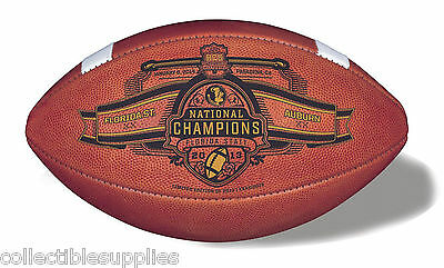 - OFFICIAL FLORIDA STATE 2013 BCS CHAMPIONS LEATHER GAME FOOTBALL - LIMITED ED.