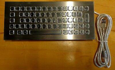 K-tek-a290 Waterproof Stainless Steel Keyboard For Atm Kiosk - Usb