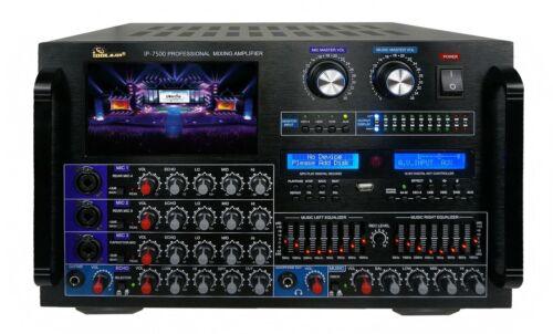 "IDOLmain IP-7500 8000W Pro Karaoke Digital Mixing Amplifier 7"" Screen Equalizer"