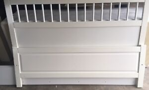 MOVING SALE WHITE IKEA BED FRAME WITH BOX SPRING