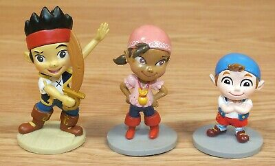 """*Set of 3* 3"""" (inch) Captain Jake and the Never Land Pirates PVC Figurines , used for sale  Shipping to India"""