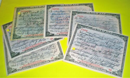 PROHIBITION WHISKEY PRESCRIPTIONS ~ PHARMACY ~ 1932 BALTIMORE, MD ~ 6 PIECE LOT