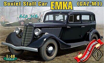 Ace Car Parts (ACE 48104 WWII Soviet Staff Car GAZ-M1 Emka (PE parts, Decal) Plastic Kit 1/48 )