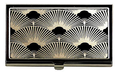 ART DECO Fan Pattern Business Card Case Womens Accessories Credit Card Case