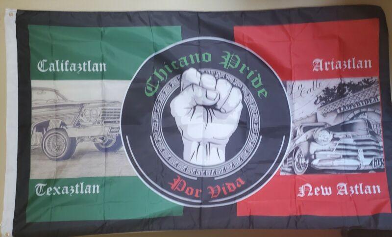 Chicano Pride 3x5 Flag Aztlan Chicano Calif Texas Arizona New Mex Lowrider Arte