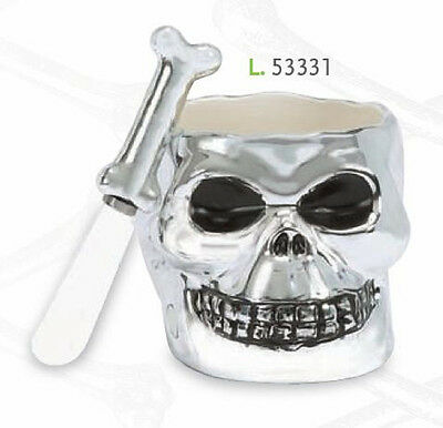 53331 Halloween Bone Collector Skull Dip Bowl & Spreader Set Skeleton Party - Halloween Bone Collector