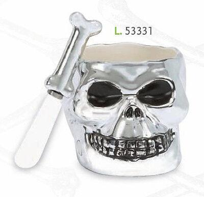 53331 Halloween Bone Collector Skull Dip Bowl & Spreader Set Skeleton Party - Halloween Bone Collector