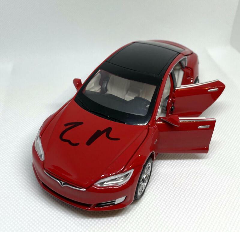 ELON MUSK SIGNED AUTOGRAPH 1:32 DIECAST TESLA MODEL S (RED) CAR RARE JSA & ACOA