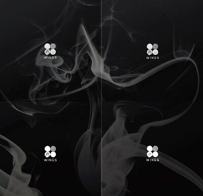 K-POP BTS 2nd Album [WINGS] CD + 96p Photobook + Photocard Sealed [Random Cover]