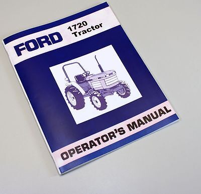 New Holland 1720 Tractor | Owner's Guide to Business and Industrial