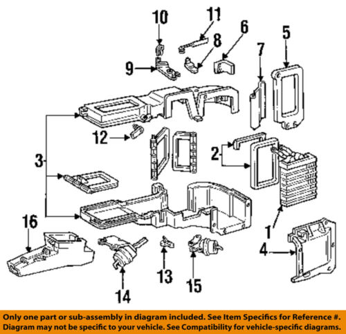 ford oem 88-98 f-250-hvac heater core e9tz18476b | ebay  ebay