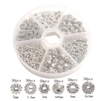 -  300PCS/box Antiqued  Metal Styles Of Bali Daisy Spacer Beads for Jewelry Making