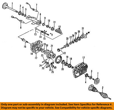 GM OEM Front Axle-Output Shaft Bearing 26041515
