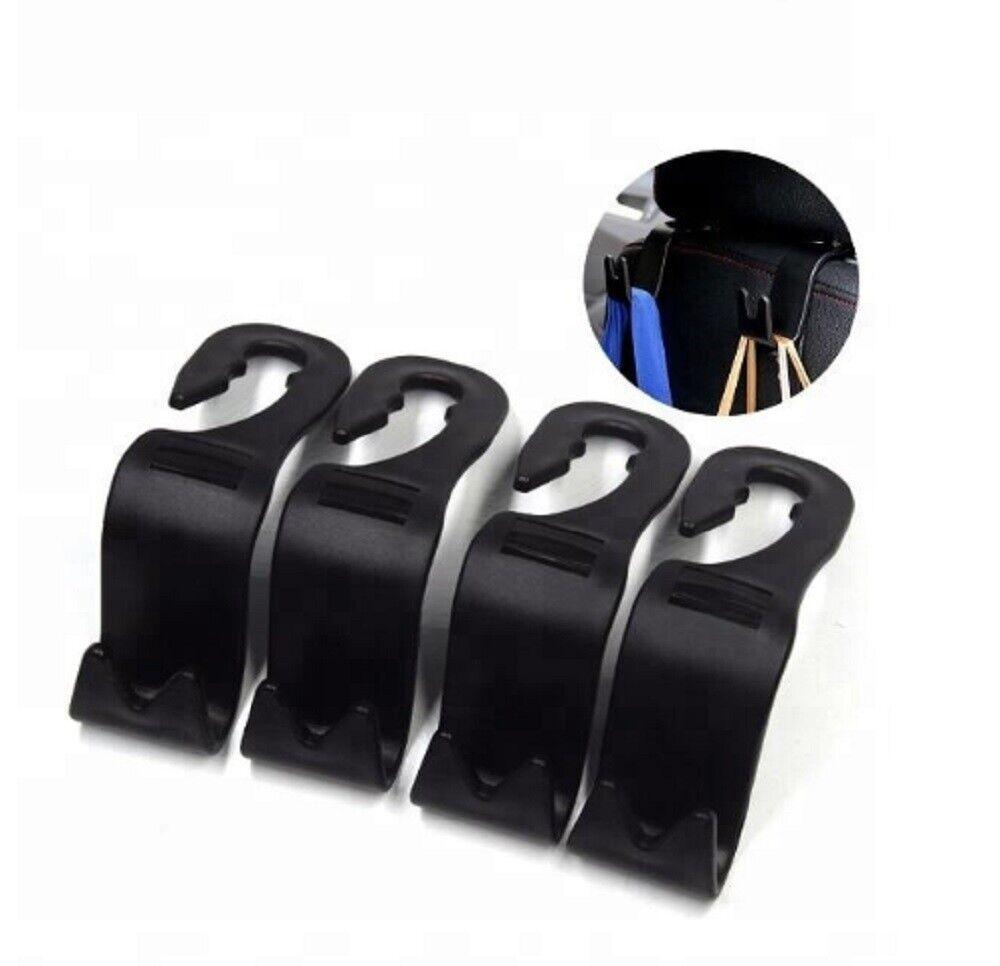4 Packs Car Seat Front Back Headrest Hooks Truck Coat Purse Bag Hanger Holder US Car & Truck Parts