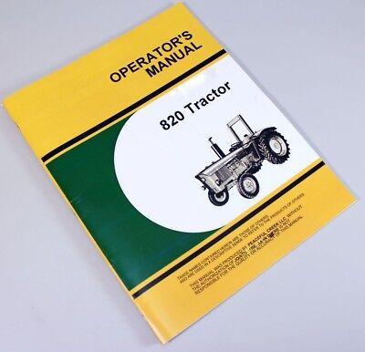 Operators Manual For John Deere 820 Tractor Owners Book Maintenance