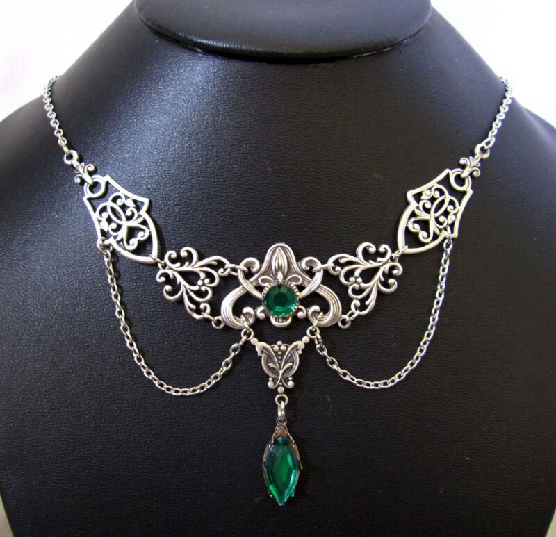 Gothic Victorian Renaissance Medieval Steampunk Choker Necklace Bridal Jewelry