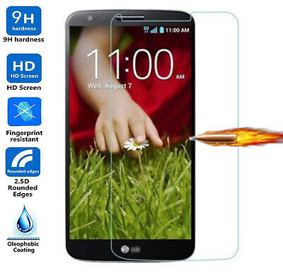 Tempered Glass Screen Protector LG G2 Scratch Proof Clear Shield Best (Best Glass Screen Protector For Lg G2)